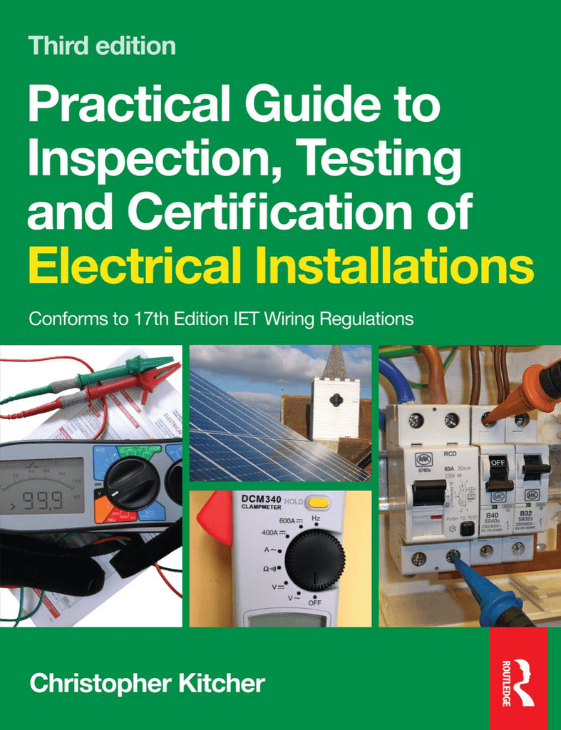 Practical Guide To Inspection Testing And Certification Of Electrical 32a 2p Transparent Residual Current Circuit Breaker Diy Electricals