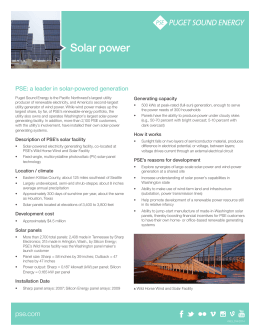 Factsheet: Solar Power