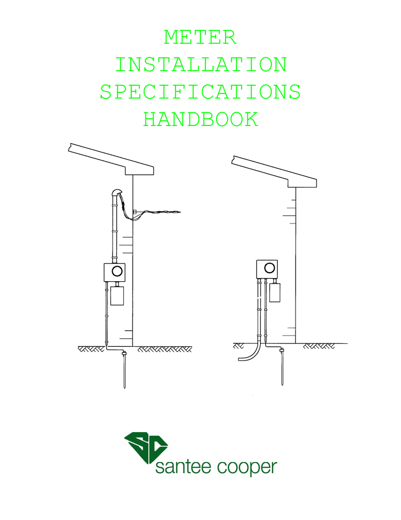 Meter Installation Specifications Handbook Nec Single Phase Wiring Diagram 018154010 1 7f059e83636d960639d808755384e5db