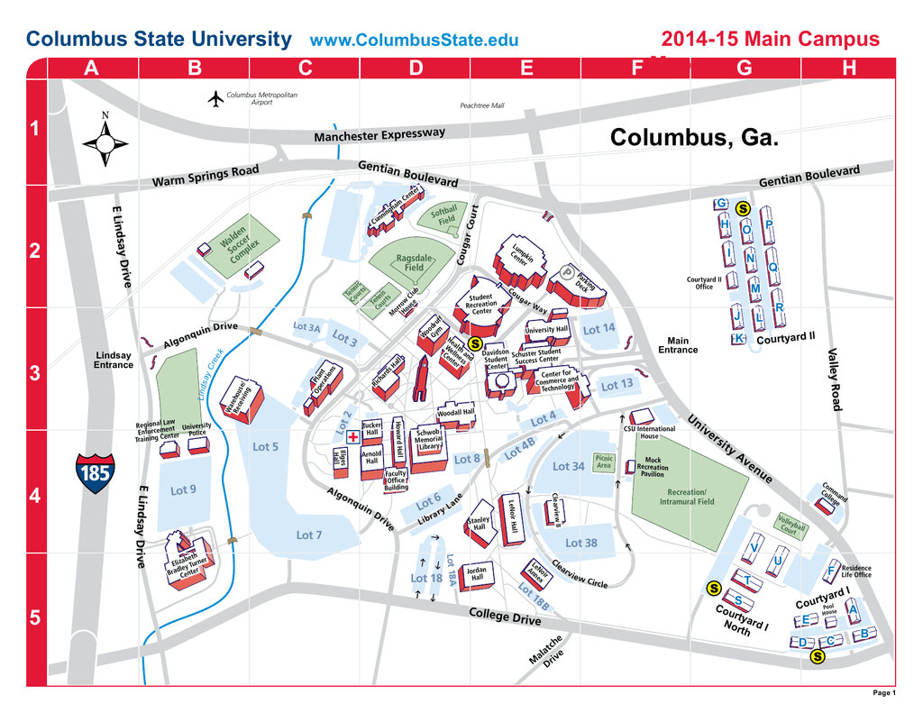 columbus state university campus map Riverpark Campus Map Columbus State University columbus state university campus map