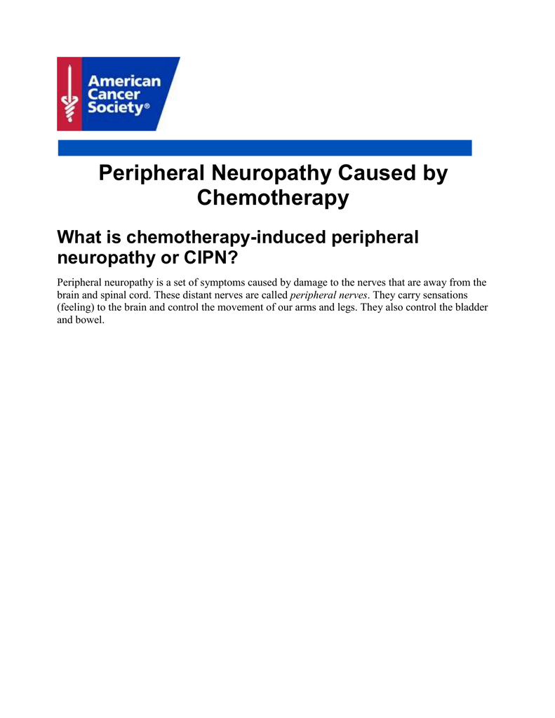 Peripheral Neuropathy Caused by Chemotherapy