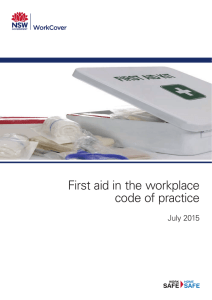 First aid in the workplace - SafeWork NSW