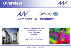 Overview - AWE Communications