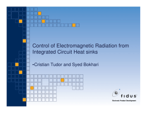 Control of Electromagnetic Radiation from Integrated Circuit Heat sinks