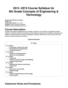 Concepts of Engineering and Technology Syllabus