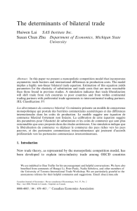 The determinants of bilateral trade