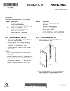 Page 1 911400-00 Readymount Installation Instructions © Allegion