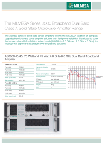 The MILMEGA Series 2000 Broadband Dual Band Class A Solid