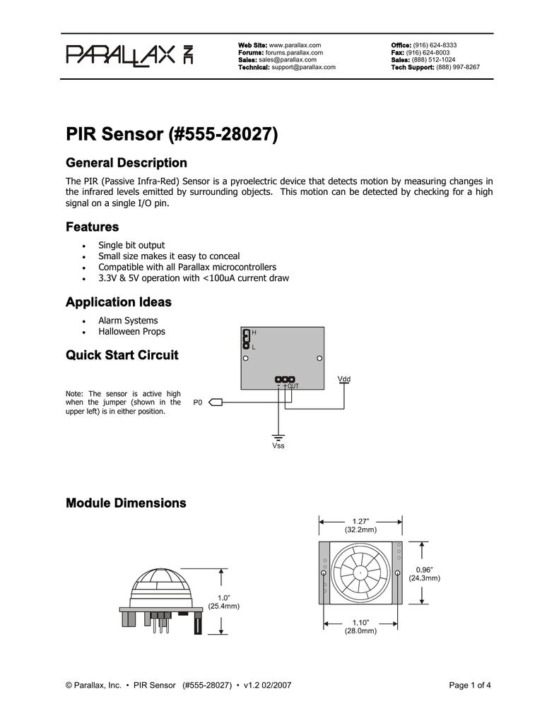PIR Sensor (#555-28027)