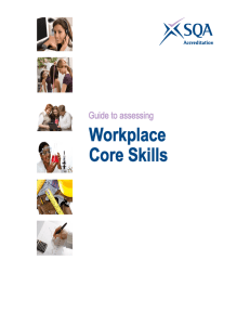 Guide to Assessing Workplace Core Skills