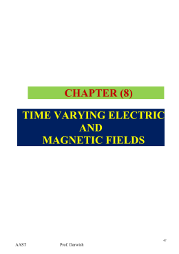 CH.8 Time Varying Field