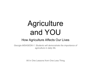 How Agriculture Affects Our Lives