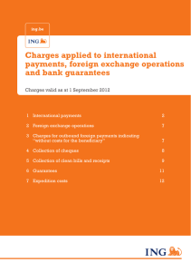 Charges applied to international payments, foreign