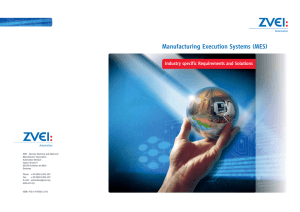 Manufacturing Execution Systems (MES)