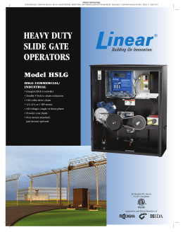 heavy duty slide gate operators