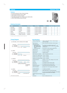 Specifications A-Series Electronic Timers Timing Diagram