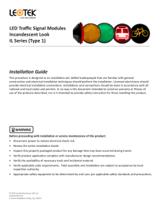 Installation Guide LED Traffic Signal Modules Incandescent Look IL