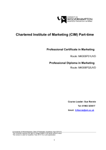 Professional Certificate in Marketing