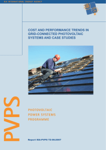 cost and performance trends in grid-connected photovoltaic systems