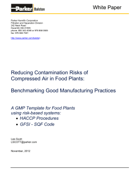 Reducing Contamination Risks of Compressed