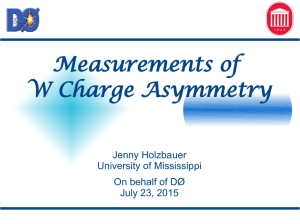 Measurements of W Charge Asymmetry