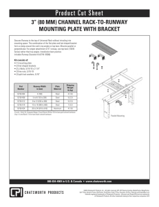 "3"" (80 mm) Channel Rack-to-Runway Mounting Plate with Bracket"