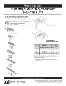 Rack-To-Runway Mounting Plate