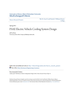 FSAE Electric Vehicle Cooling System Design