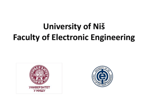 University of Nis Faculty of Electronic Engineering