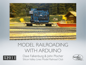 model railroading with arduino