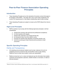 Operating Principles - The Peer-to