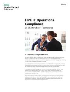HPE IT Operations Compliance to be smarter about IT compliance