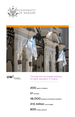 """University of Warsaw – summary"""
