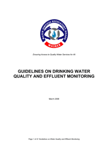 Water Quality and Effluent Monitoring Guideline