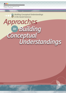 Approaches to Building Conceptual - Social Sciences Online
