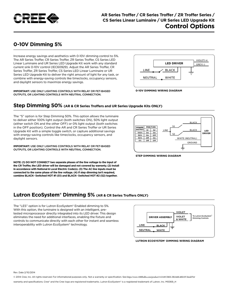 Dimmer Compatibility 0 10v Dimming Led Downlight Wiring Diagram