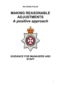 Reasonable Adjustments Protocol