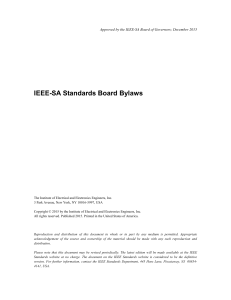 IEEE-SA Standards Board Bylaws - The IEEE Standards Association