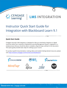 Instructor Quick Start Guide