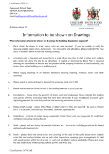 Information to be Shown on Drawings