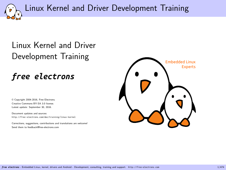 Linux Kernel and Driver Development Training
