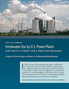 Freshwater Use by US Power Plants