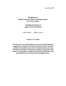 Handbook on Radio Frequency Spectrum Requirements for