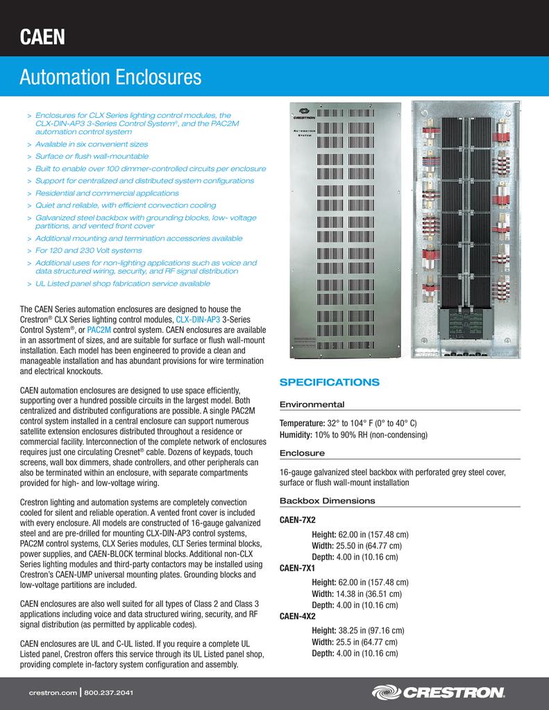 Caen Automation Enclosures Structured Wiring Enclosure Accessories
