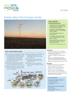 Golden West Wind Energy Center