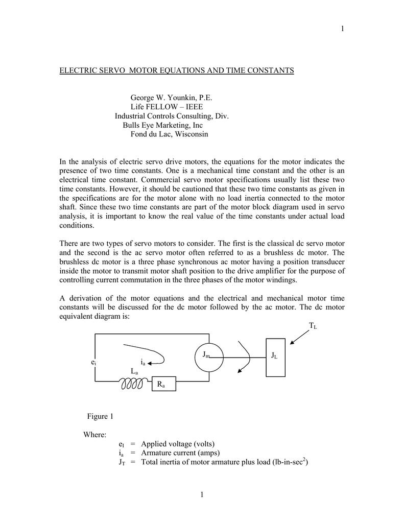 Electric Servo Motor Equations And Time Constants Diagram 018159898 1 Df691fecd6fc1c1cfbf67d729772ea6b