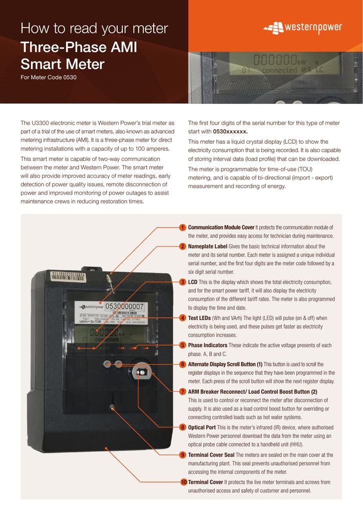 Three-Phase AMI Smart Meter