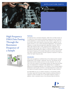 High Frequency DMA Data Processing Through the Resonance