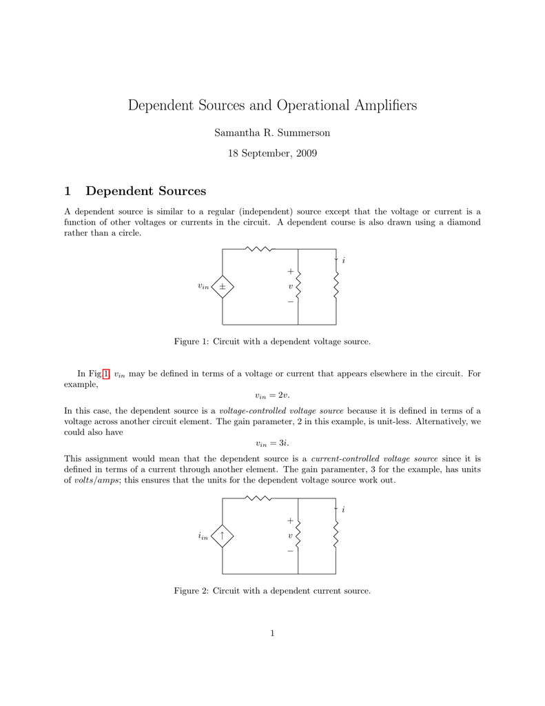 Dependent Sources And Op Amps Circuits Current Controlled Voltage Source Indep