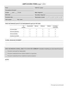 AMPS SCORE FORM (page 1 of 2) - Center for Innovative OT